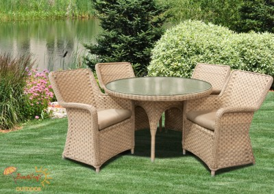 Outdoor wicker redbarn furniture for Beach craft rattan furniture