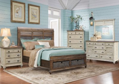 Brockton Bedroom with Hamlet Bed with Hamlet Storage Bed by Cottage Creek