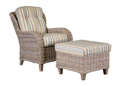 OC752 & OT 752 Chair & Ottoman by Capris