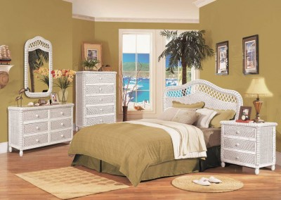 Santa Cruz White Bedroom by SeaWinds Trading Co.