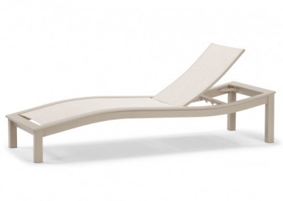 Bazza MGP Aluminum Sling Contour Armless Chaise by Telescope Casual