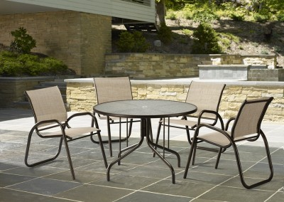 Gardenella Sling Stackable Cafe Chair by Telescope Casual