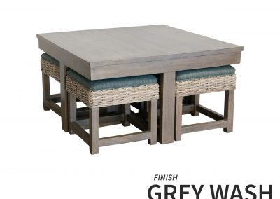 HT752 Hassock Table Grey Wash by Capris
