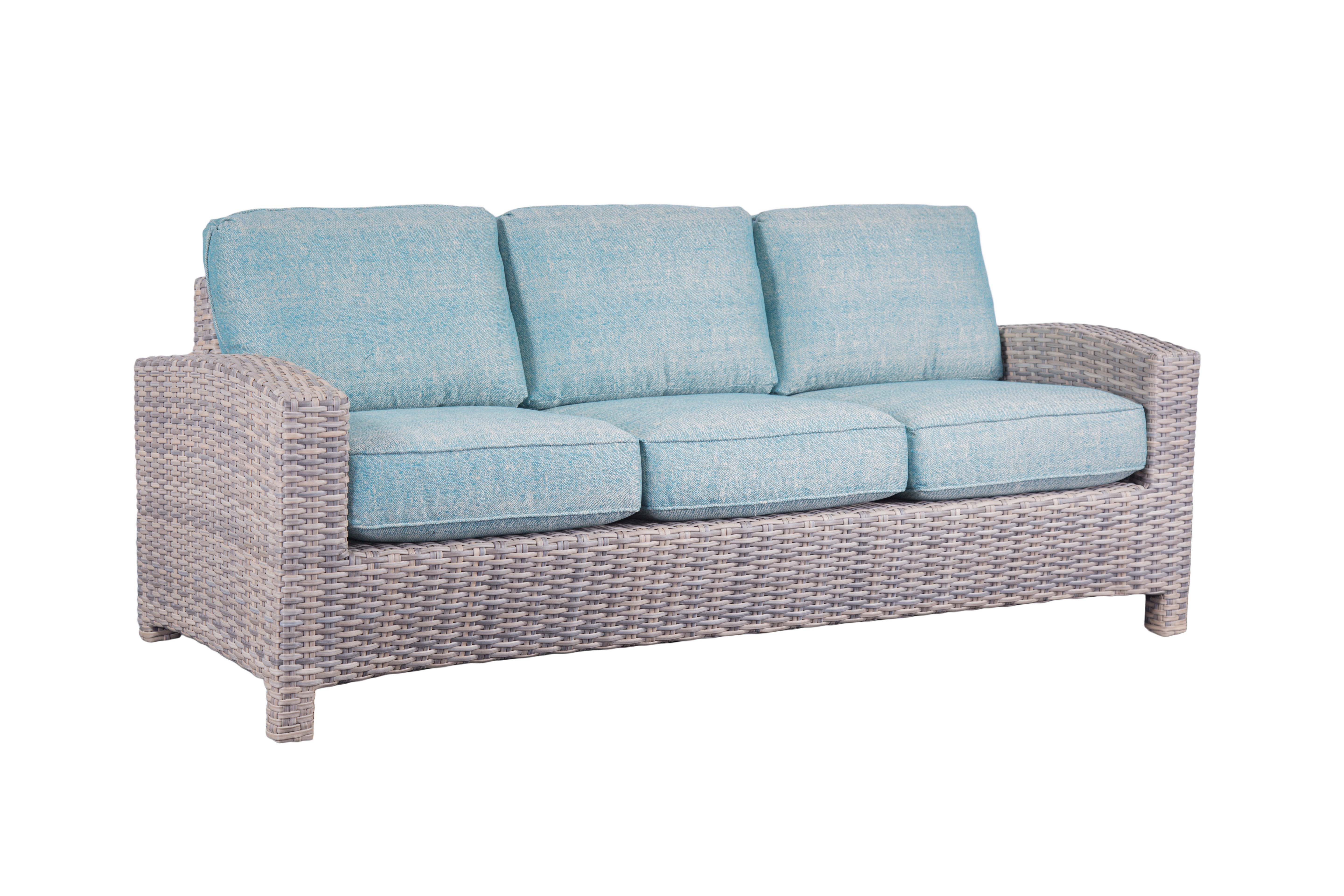 Outdoor wicker sofas sectionals redbarn furniture for Beach craft rattan furniture