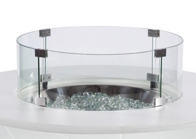 Optional Glass Wind Guard by WDG Fire Pit Tables