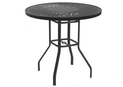 High Top Napa Punched Aluminum Table by Windward Design Group