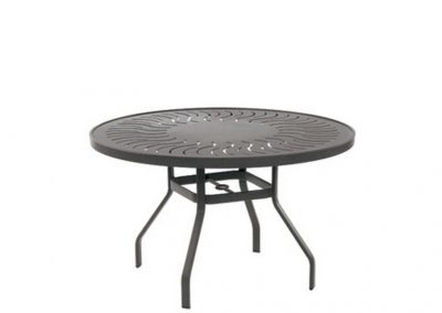Sunburst Punched Aluminum Table by Windward Design Group