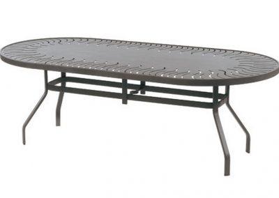 Sunburst Punched Aluminum Table by Windward Design Group
