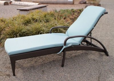 Lynn Valley Adjustable lounger with Cushion by Ratana