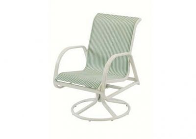 W1535 Ocean Breeze Swivel Dining Arm Chair by Windward Design Group