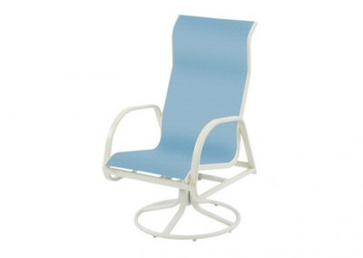 W1535HB  Ocean Breeze High Back Swivel Dining Arm Chair by Windward Design Group