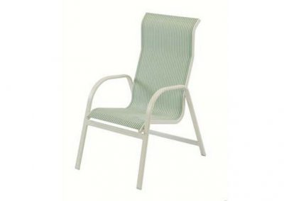 W1550HB Ocean Breeze High Back Dining Arm Chair by Windward Design Group