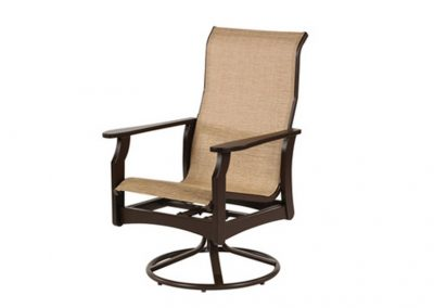 W5835HB Covina Sling MGP Highback Dining Swivel Rocker by Windward Design Group