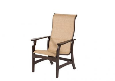W5850HB Covina Sling MGP High Back Dining Arm Chair by Windward Design Group