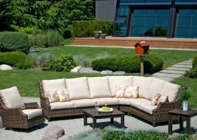 Whidbey Island Sectional and Swivel Glider by Ratana
