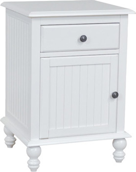 Cottage 1-door & 1-drawer Nightstand by John Thomas