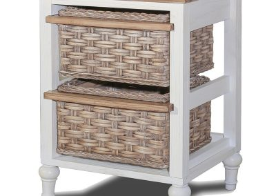 Island Breeze 2-Basket Tower Table by Sea Winds Trading