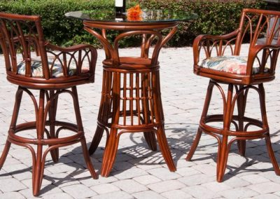 Cuba-Barstool-with-Arm-and-Pub-Table-Sienna-Finish