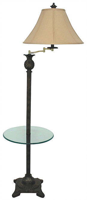 PR903T swing arm floor lamp with table by papila