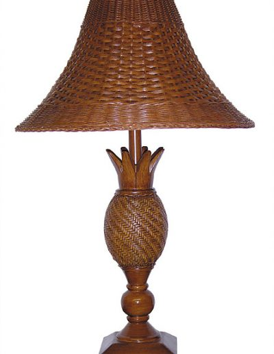 RT802-DT wicker and resin lamp by papila