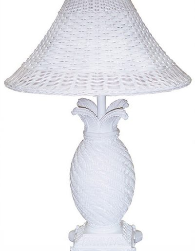 RT820-WH resin and wicker lamp by papila