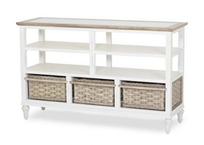 Island Breeze 3-Basket Entertainment Center by Sea Winds Trading