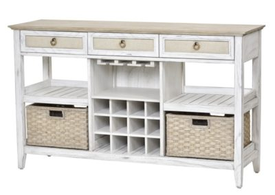 Captiva Island Sideboard with Wine rack by Sea Winds Trading Co.