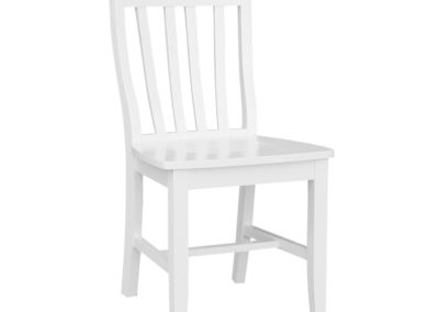 Pure White School House Chair by John Thomas C08-61FRONTVER2