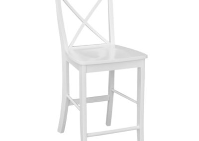 Pure White X-Back Stool by John Thomas S08-6132FRONTVER2