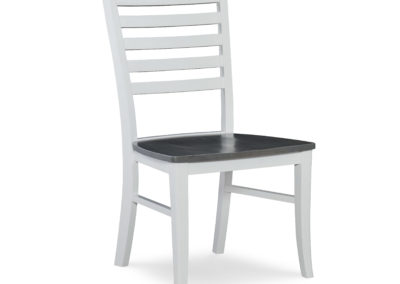 Roma Chair by John Thomas in Heather Gray and White C05-310B