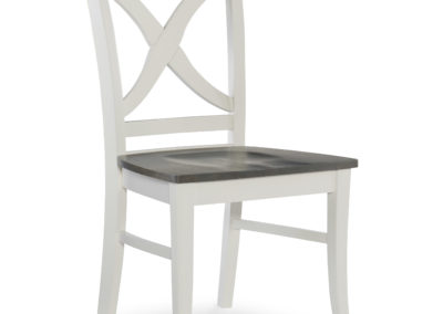 Salerno Chair by John Thomas in Heather Gray and White C05-14B