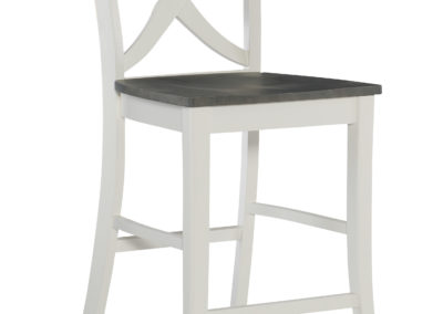 Salerno Stool in Heather Gray and White by John Thomas S05-142B