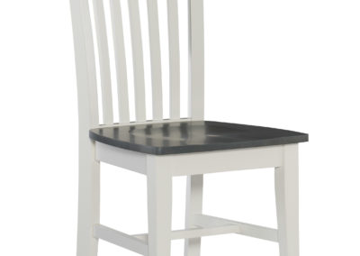 Tall Mission Chair by John Thomas in Heather Gray and White C05-465B