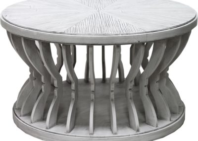 Ck384 Distressed White Cocktail Table by Capris