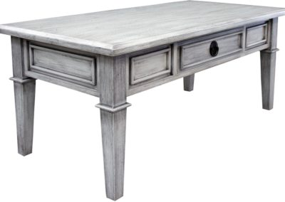 CT394 Distressed White Coffee Table by Capris