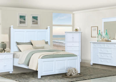 Beachfront White Bedroom by Cottage Creek