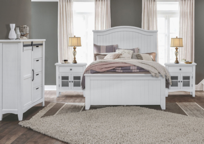 Stockton White Bedroom by Cottage Creek