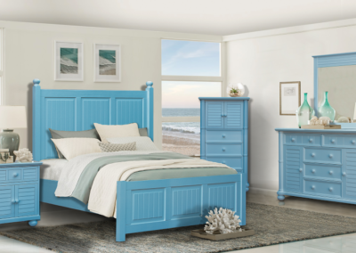 Beachfront Blue Bedroom by Cottage Creek