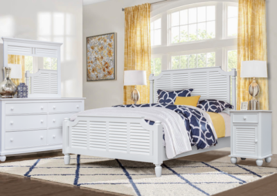White Nantucket Bedroom by Cottage Creek