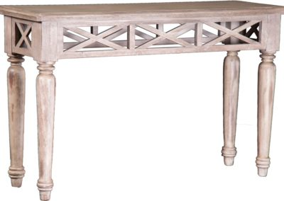 ST762 Aged White Sofa Table by Capris