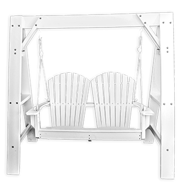 Curved OBX Adirondack Swing and A-frame by Carolina Casual