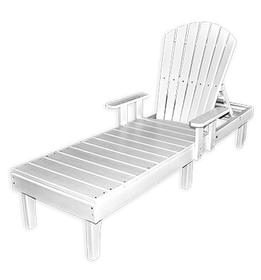 Curved OBX Adirondack Chaise Lounge by Carolina Casual