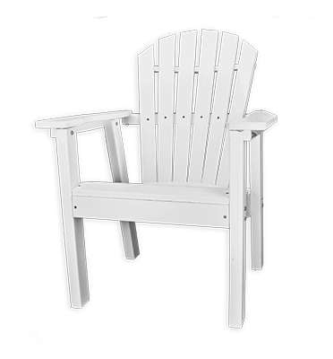 Curved OBX Adirondack Dining Chair by Carolina Casual