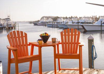 Curved OBX Adirondack Bar Chair Tete-E-Tete by Carolina Casual