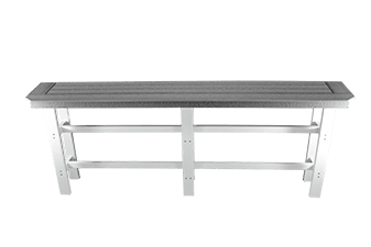 Double Railhugger Table by Carolina Casual