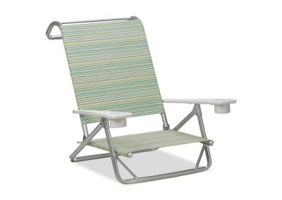 beach and pool original mini sun chaise w MGP arms and cup holder